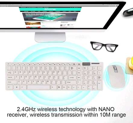 K-06 2.4GHz Ultra-thin Wireless Keyboard & Mouse Set - White image 5