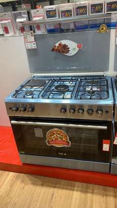 VON HOTPOINT 60X90 COOKER 4 GAS BURNERS + 2 ELECTRIC PLATES PLUS ELECTRIC  OVEN Stainless steel .(F9S42E3.ILR).