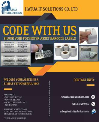Barcode Labels(Silver Void)