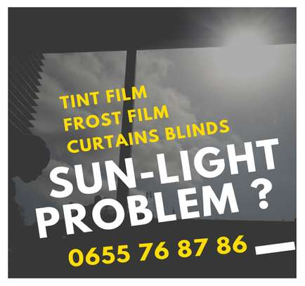 Sun Light Problem- Black Tint Film