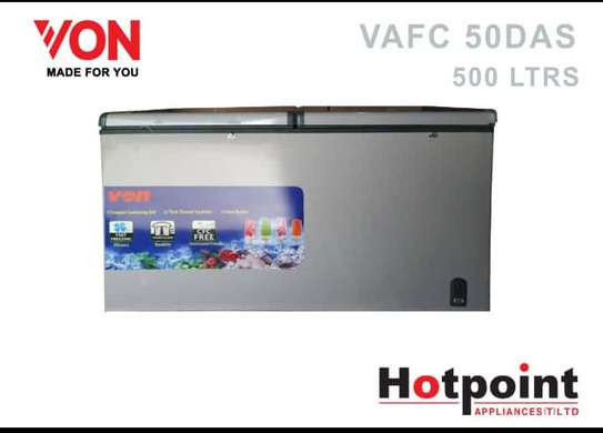 VON CHEST FREEZER 500L TOP DOORS