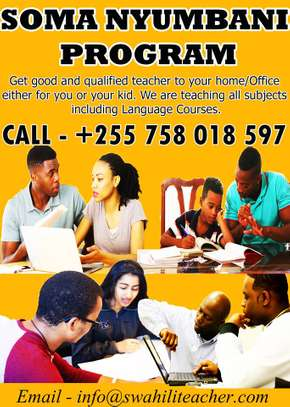 Soma Nyumbani Program (Learn st home with private teacher) in Dar es Salaam
