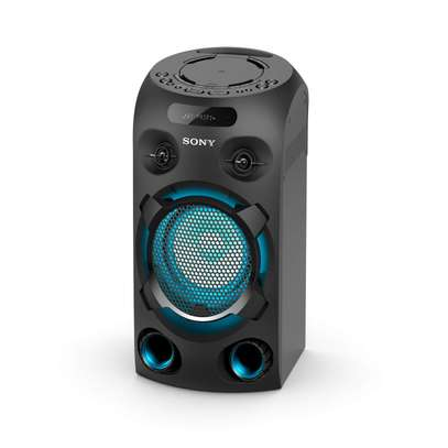 Sony MHC-V02 Compact High Power Party Speaker, One Box Music System with Bluetooth, Jet Bass Booster and Tripod Compatible, Black image 1