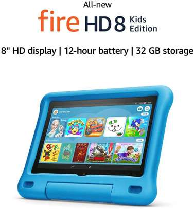 Amazon Fire HD 8 Kids Edition tablet, 8 HD display, 32 GB, Blue Kid-Proof Case image 2