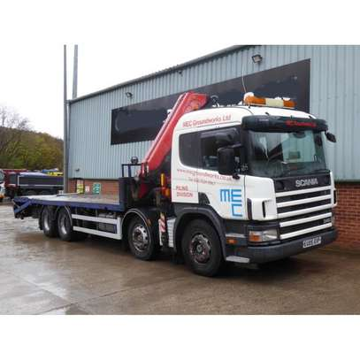 2005 Scania 114 340 8X2 FLATBED WITH CRANE