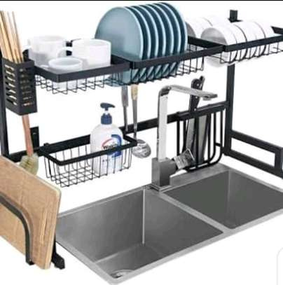 Large Over the Sink Dish Drying Rack. image 3