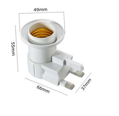 UK Plug E27 or B22 Lamp Socket Holder Adapter Converter 110-240V With ONOFF Switch image 5