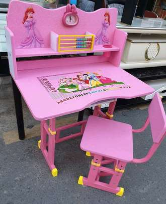 Kids Functional Desk and Chair Set..120,000/= image 1