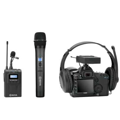 BOYA BY-WHM8 Pro Lavalier and Handheld Microphone UHF Wireless Unidirectional Dynamic Mic image 2