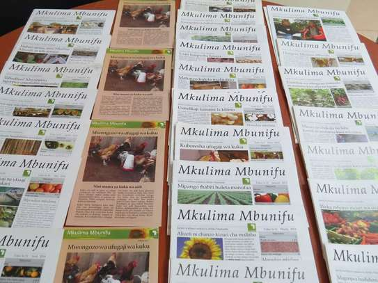 Tender for Printing and Graphic Designer at Mkulima Mbunifu Magazine