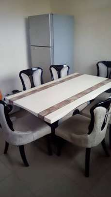 Dinning table,fridge na microwave for sale image 1