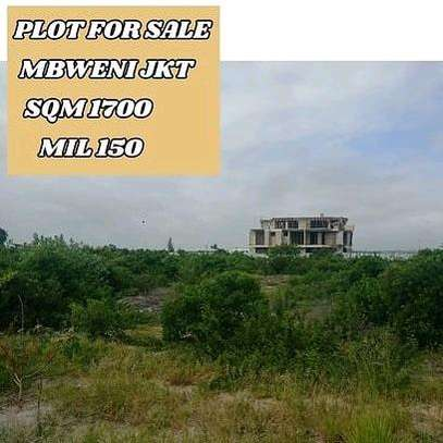 1700SQM of a residential Plot near the Beach at Mbweni JKT image 1