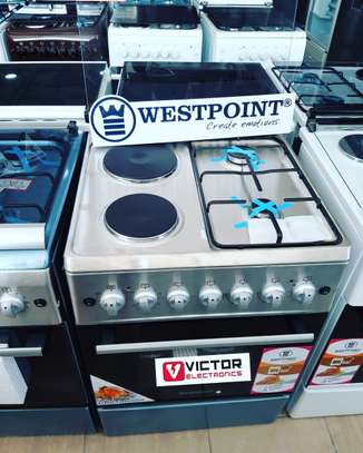 WESTPOINT  2 GAS + 2 ELECTRIC COOKER 60X60 image 1