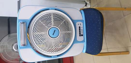 RECHARGABLE PORTABLE FAN WITH LED BULB image 2