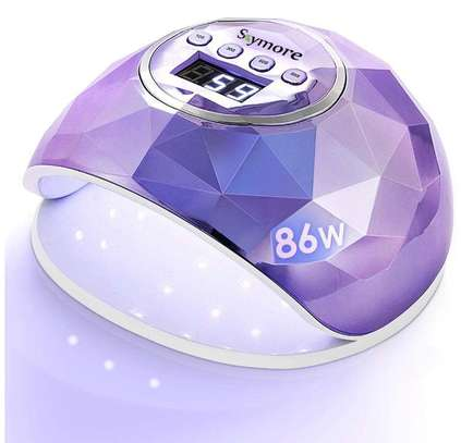 86W Nail Dryer Lamp, UV LED Gel Nail Lamp, Professional LED Nail Dryer Nail Lamp, with 4 Timers, for Nail Art Manicure/Pedicure image 1