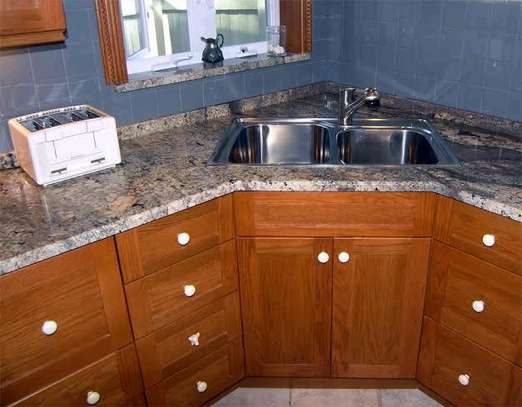 MABLE  FINISH KITCHEN CABINET WITH A SINK...950,000 image 1