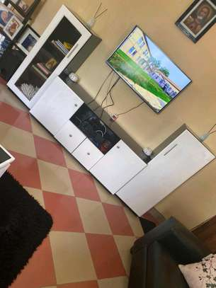 Tv cabinet and coffee table made of hardwood for sale