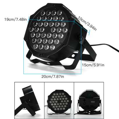 Colorful Disco Lights with remote & music control 4pcs image 3