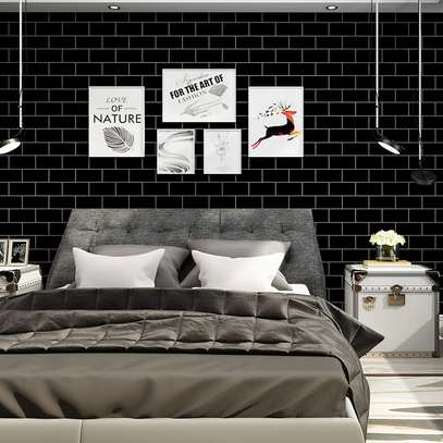 Wallpaper/ Black Bricks
