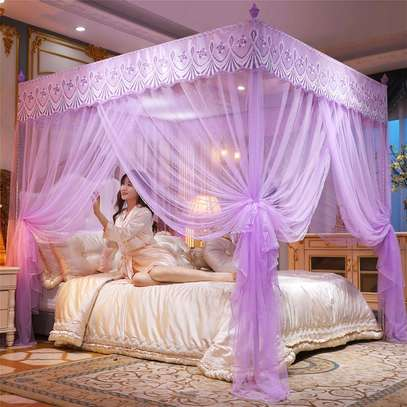 Mosquito Net Three Open Door 1.5m1.8 Meters Double Bed Encryption Stable Bracket Home image 4