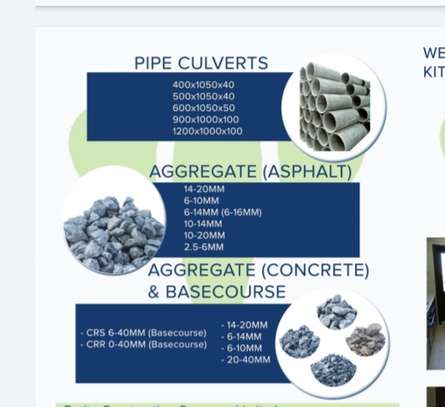 Aggregate;Blocks;Pipe culverts;