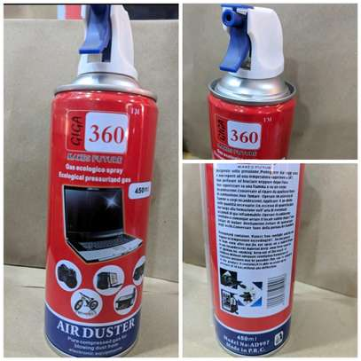 Air Duster pressurized Gas Container 450ML image 1