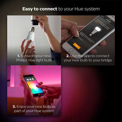 Philips Hue White and Colour Ambience GU10 Dimmable LED Smart Spot Light image 9