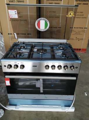 VON HOTPOINT 60X90 COOKER 4 GAS BURNERS + 1 ELECTRIC PLATE +GAS OVEN image 1