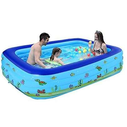 Big Family Infatable PVC Family Swimming Pool With its air compressor-210cm*145*65