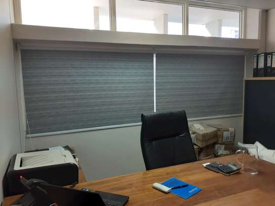 Office Curtains Grey