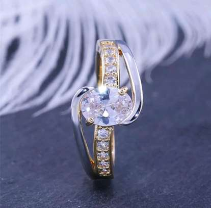 Gold and Silver Engagement Ring image 3