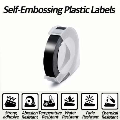 Tape Replacement for Dymo 3D Embossing Label Tape image 3