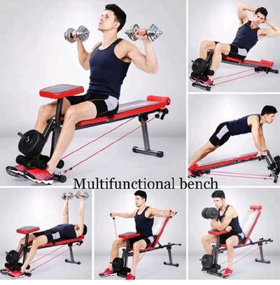 multifunction bench with Dumbell 20kg. image 1