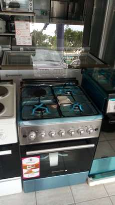 Westpoint 60x60cm 3 Gas burner + 1 Electric Plate & Oven Grill – Inox image 1