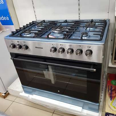 HISENSE 90CM GAS ELECTRIC STAI NLESS STEEL STOVE HFS905GES image 1