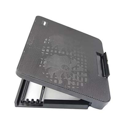 Laptop Cooling Pad N99 With 2 Dual Fan (Black) image 1