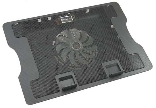 Notebook N88 Laptop Cooler Quiet Laptop Cooling Fan 2 USB Ports Lap Desk Air Cooling Pad Cooler Stand for 10-15.6 Inch - Black image 1
