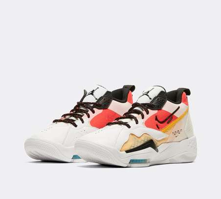 Jordan Women's Zoom 92 Trainer | White / Black / Siren Red / University Gold image 1