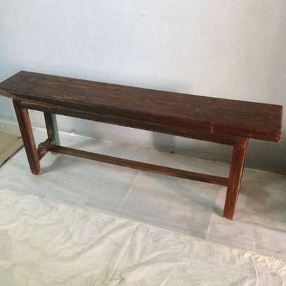 One Wooden Bench