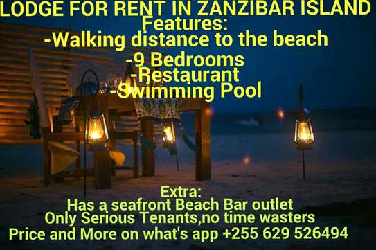 LODGE FOR RENT IN ZANZIBAR ISLAND