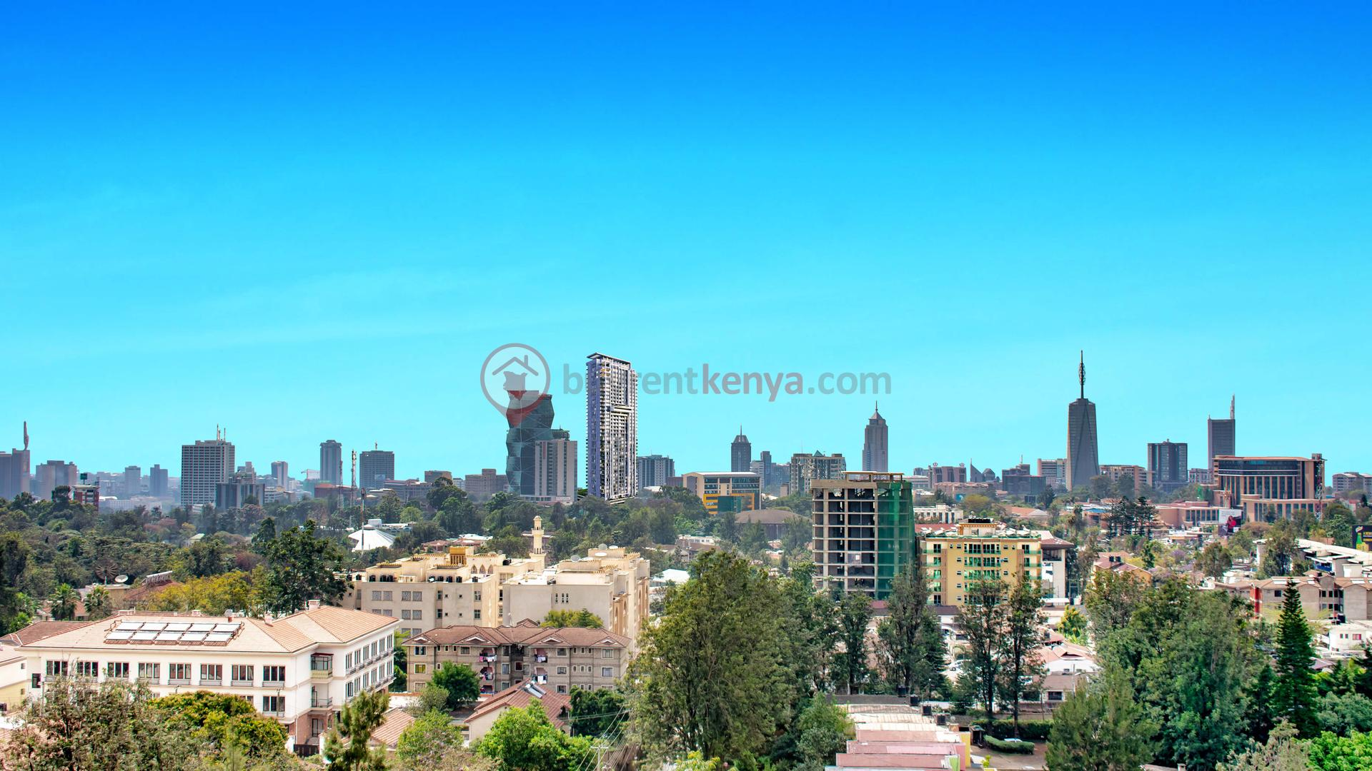 Nairobi Skyline just blue  edited