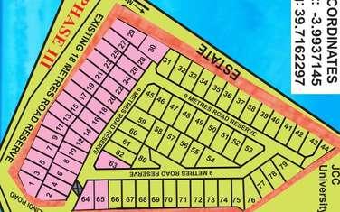 0.035 ha land for sale in Bamburi