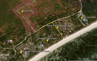 0.1 ac land for sale in Kikambala