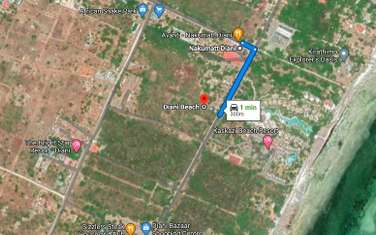 1900 m² land for sale in Diani