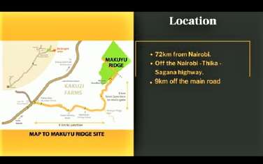 0.25 ac residential land for sale in Maragwa