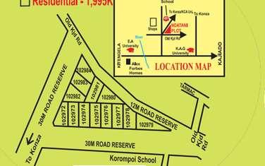 0.04 ha commercial land for sale in Kitengela