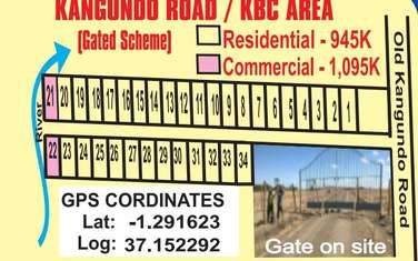 0.032 ha residential land for sale in Kangundo Area