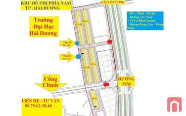 70 m2 land for sale in District Gia Loc
