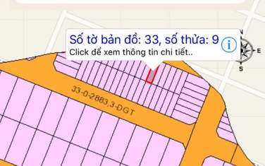 98.7 m2 Residential Land for sale in District Nhon Trach