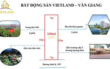 230 m2 residential land for sale in District Van Giang